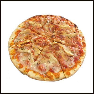Pizza con pollo 9.50€